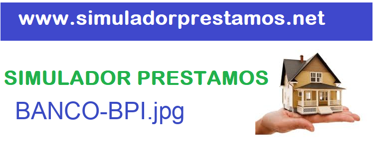 Simulador Prestamos  BANCO-BPI