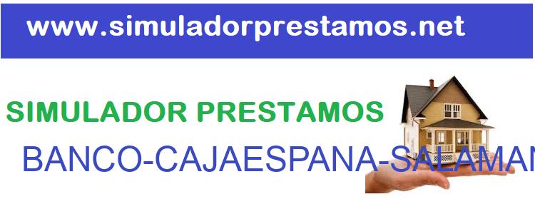 Simulador Prestamos  BANCO-CAJAESPANA-SALAMANCASORIA