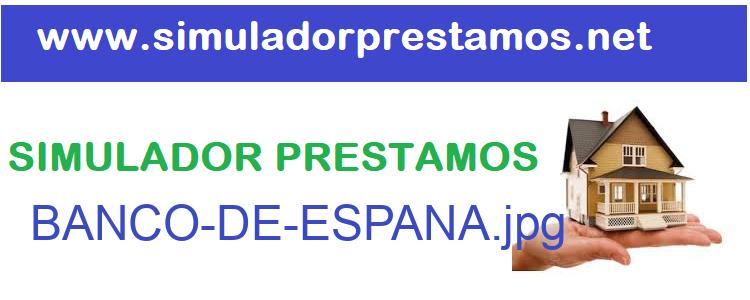 Simulador Prestamos  BANCO-DE-ESPANA