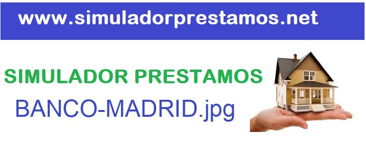 Simulador Prestamos  BANCO-MADRID