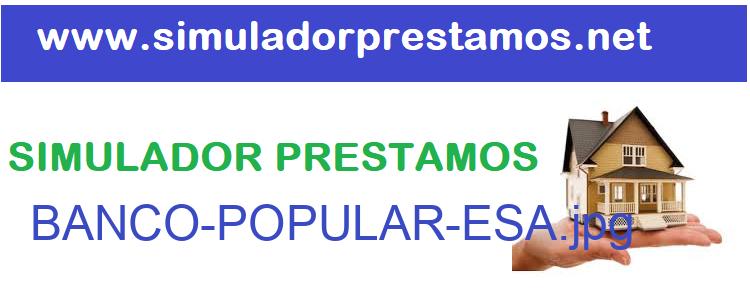 Simulador Prestamos  BANCO-POPULAR-ESA
