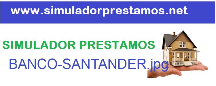 Simulador Prestamos  BANCO-SANTANDER