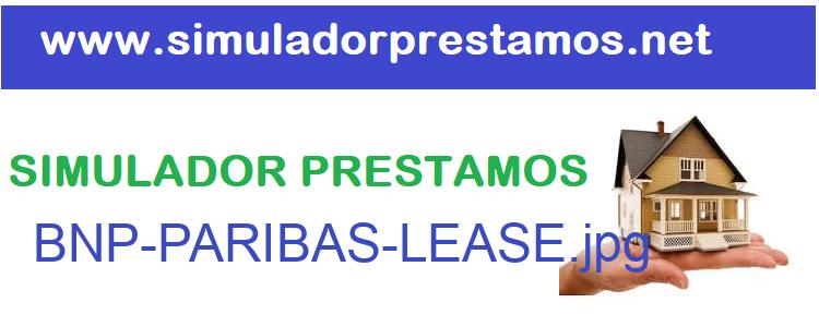 Simulador Prestamos  BNP-PARIBAS-LEASE