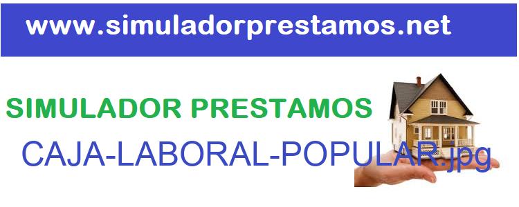 Simulador Prestamos  CAJA-LABORAL-POPULAR
