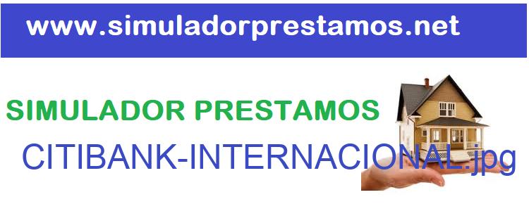 Simulador Prestamos  CITIBANK-INTERNACIONAL