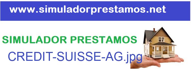 Simulador Prestamos  CREDIT-SUISSE-AG