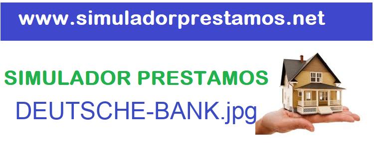 Simulador Prestamos  DEUTSCHE-BANK