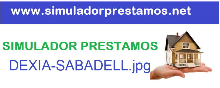 Simulador Prestamos  DEXIA-SABADELL