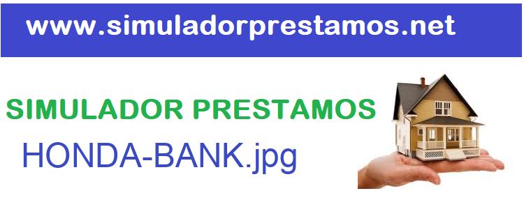 Simulador Prestamos  HONDA-BANK