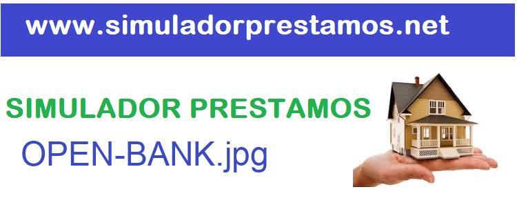 Simulador Prestamos  OPEN-BANK